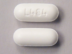 What pill is oval, white and has 'L484' on one side?