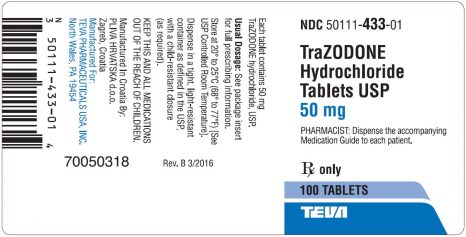 Trazodone Oral : Uses, Side Effects, Interactions, Pictures, Warnings