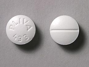 round white pill pliva 433
