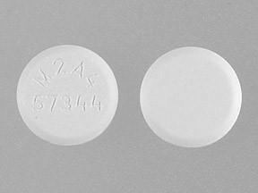 m2a4 over 57344 white oblong pill