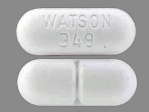 WATSON 349 Pill Images (White / Elliptical / Oval)