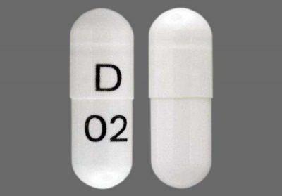 D 02 Pill Images (White / Capsule-shape)