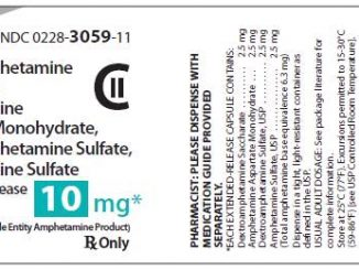 Blue and white R 3059 capsule - drug class, uses, shape, size and warnings