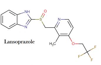 Lansoprazole chemistry and drug class