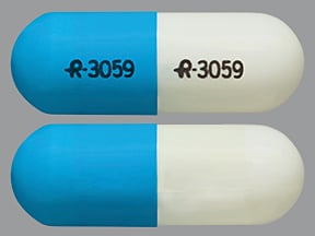 3059 Blue & White and Capsule-shape - Pill Identification