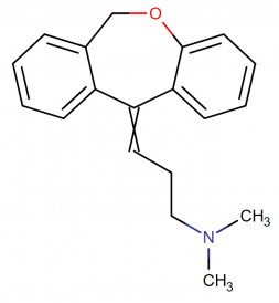 Doxepin molecular formula and structure