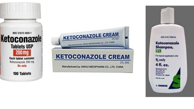 ketoconazole, Nizoral, Extina: Drug Facts, Side Effects and Dosing