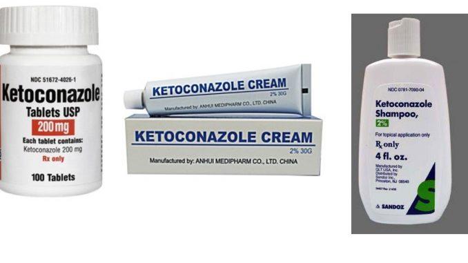 ketoconazole, Nizoral, Extina: Drug Facts, Side Effects and Dosing