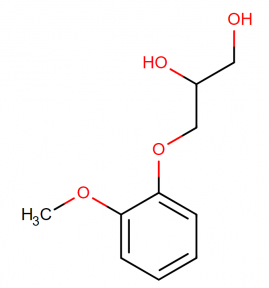 The molecular structure of guaifenesin