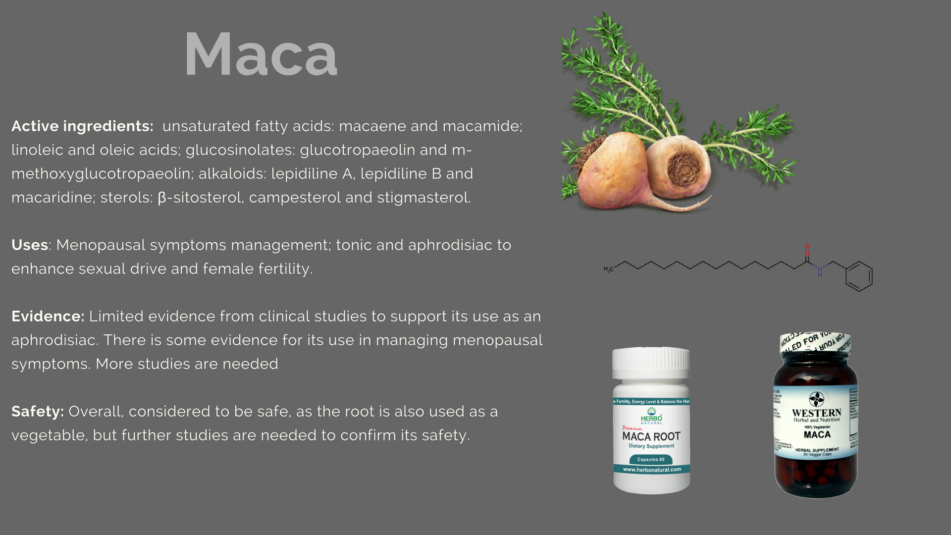 Maca Family Products Uses Evidence Dosage Side