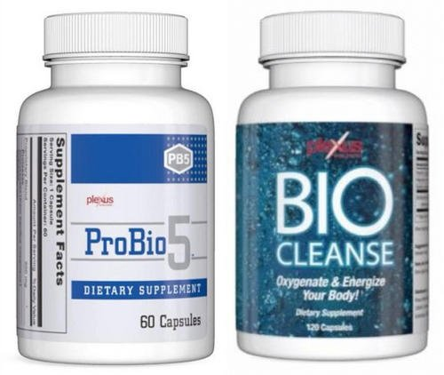 Plexus Bio Cleanse is best to take with probiotics such as the Plexus ProBio 5 image photo picture